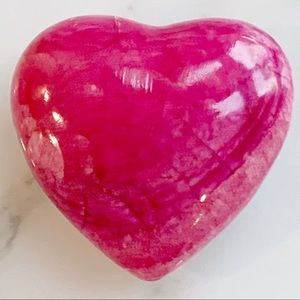 Mexican Handcrafted Fuchsia Marble Heart Shape